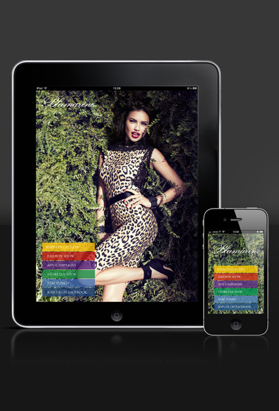 BLUMARINE FOR IPAD AND IPHONE