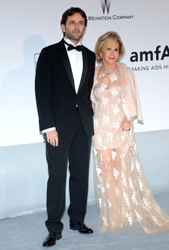 Gianguido Tarabini and Anna Molinari support amfAR