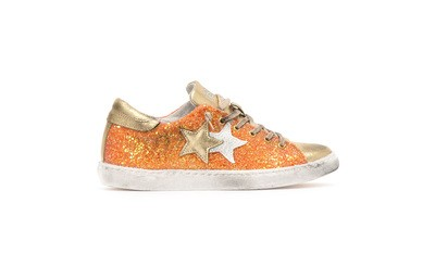 Low sneakers orange-gold