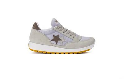 Sneaker running white- taupe- ice white