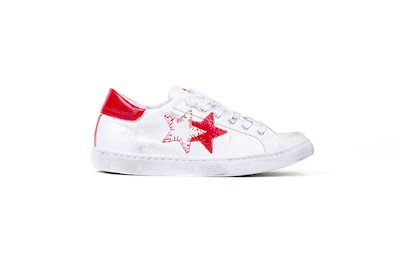 SNEAKER LOW WHITE-RED