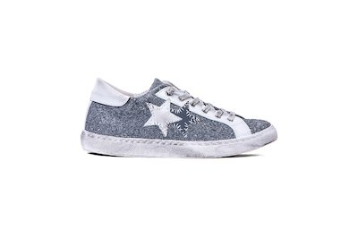 SNEAKER LOW MEDIUM GREY-WHITE