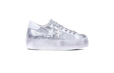 SNEAKER LOW HIGH SOLE LAMINATED PATTERNED