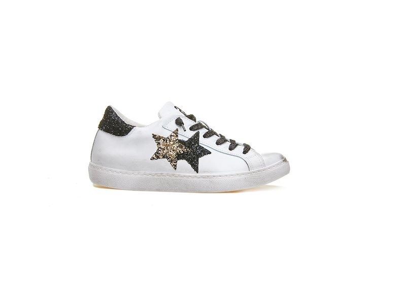LOW SNEAKER WHITE-BLACK-GOLD