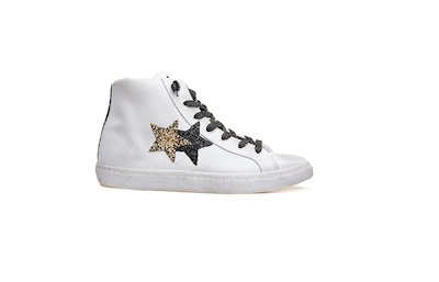 HIGH SNEAKER WHITE-BLACK-GOLD