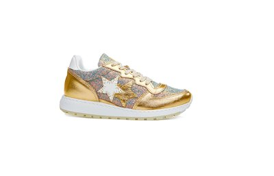 MULTICOLORED RUNNING SNEAKER-GOLD