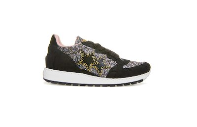 MULTICOLORED RUNNING SNEAKER-BLACK