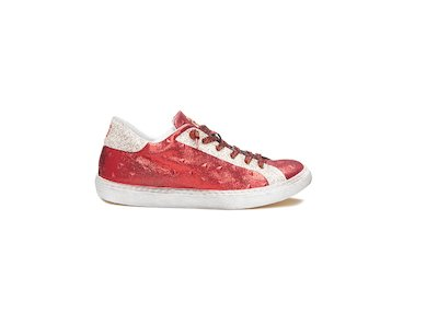 RED LAME' - GLITTER LOW SNEAKERS
