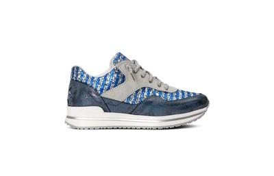 Sneaker low azure/ silver