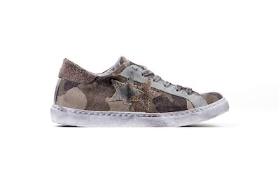 SNEAKER LOW CAMOUFLAGES-TAUPE