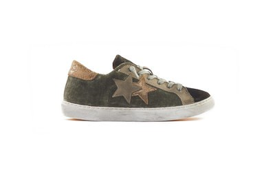 SNEAKER LOW MARRONE CANGIANTE