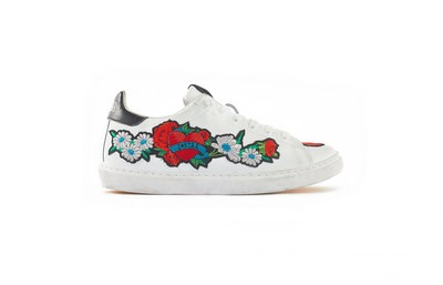 SNEAKER LOW WHITE - FLOWER PATCHWORK