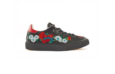 SNEAKER LOW NERO-PATCHWORK FIORI