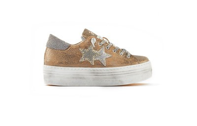 SNEAKER LOW HIGH SOLE BRONZO-ARGENTO