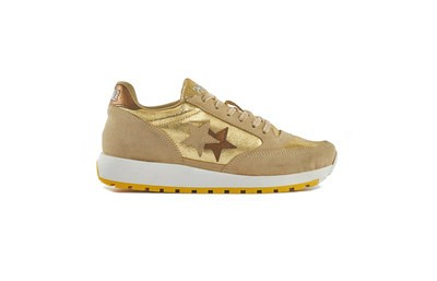 SNEAKER RUNNING GOLD-TAUPE