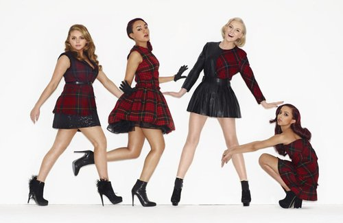 Little Mix for Grazia Magazine <br> This shot features our Stephanie glove in black.