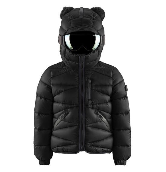 Boys' pom poms down jacket