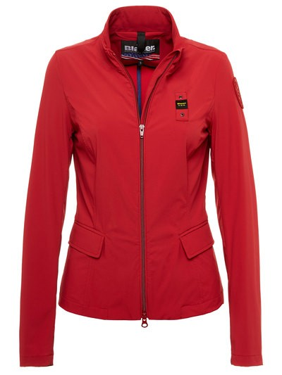 JACKET WITH TECHNICAL FABRIC