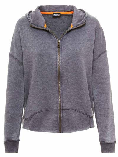 HOOD SWEATER WITH FLUO INSERT