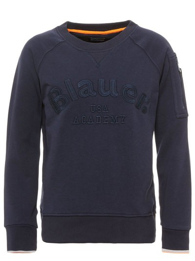 M CREW NECK SWEATSHIRT WITH POCKET