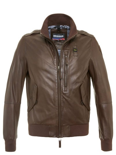 SOFT LEDER JACKE LINED