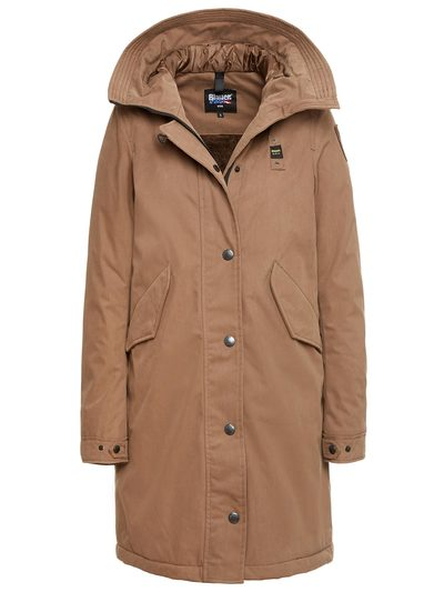 GABARDINE PARKA WITH STAR HOOD