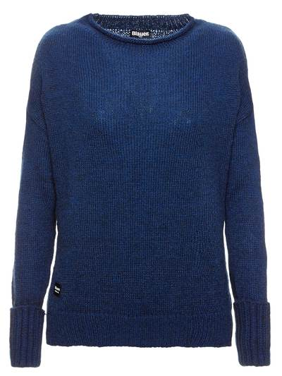 SWEATER IN WOVEN MOHAIR WOOL