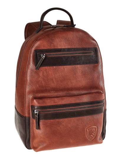 TWO COLORS LEATHER  BLAUER BACKPACK
