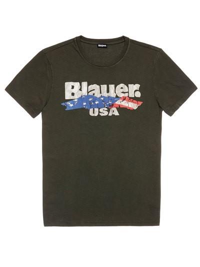T-SHIRT DRAPEAU BLAUER USA