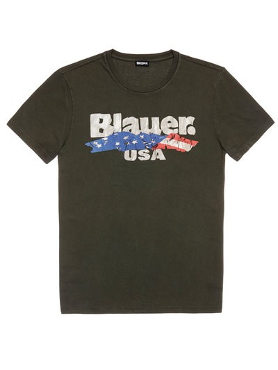 T-SHIRT BANDIERA BLAUER USA