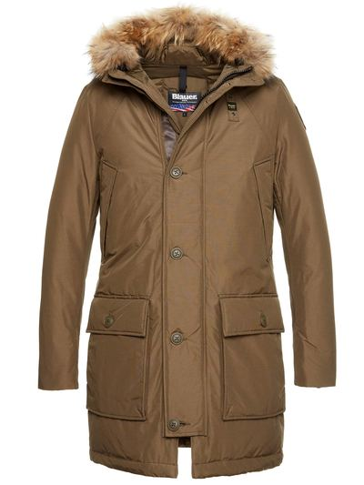 MEN'S PARKA IN TASLAN AND GOOSE DOWN JACK