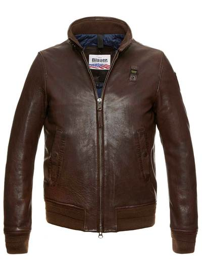 MEN'S PADDED LEATHER JACKET JAXON
