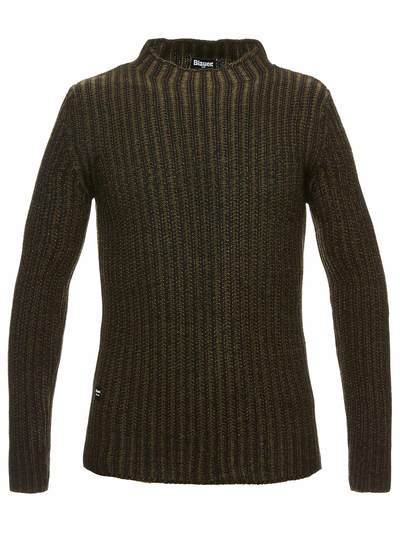 MEN'S TWO-TONE VANISÈ WOOL SWEATER