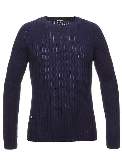 MEN'S RIBBED WOOL SWEATER