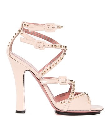Patent-leather Studded Sandals