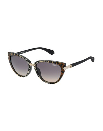 Cat-eye Shaped Sunglasses With Swarovski Crystals
