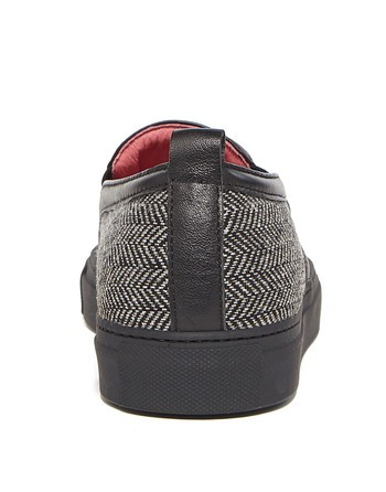 Slip-on De Tejido Chevron Con Bordado