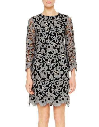 Floral Macramé Wool Lace Dress