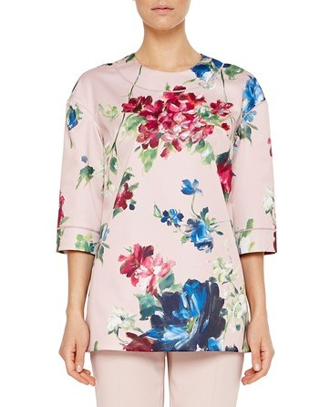 Duchesse Blouse With Pictorial Floral Print