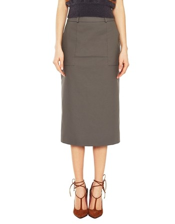 Technical Cotton Midi Skirt