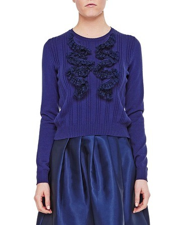 Wool Jumper With Rouches