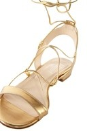 Flat Laminated Leather Sandal