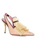 High Raffia Court Shoe With Tassels