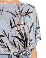 Bamboo Print Knit Caftan
