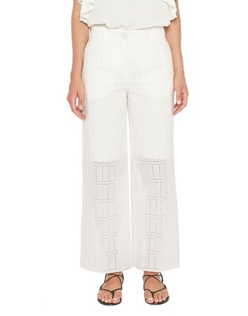 Cotton Borderie Anglaise Trousers