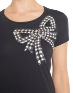 T-shirt With Bow Embroidery