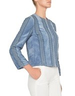 Suede Jacket With Lace