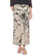 Oversized Cropped Trousers With Bamboo Print
