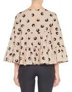 Polka Dot Print Oversize Cotton Blouse