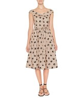 Polka Dot Print Cotton Dress